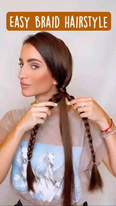 Easy Hairstyles For Long Hair, Pretty Hairstyles, Girl Hairstyles, Summer Hairstyles, Braids Long Hair, Easy Braided Hairstyles, Long Straight Hairstyles, Hairstyles For Women, Long Hair Dos