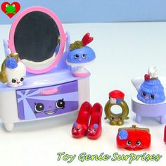 Besides the and there are various playsets that you can get, all with exclusive Shopkins you can only get in the playsets: EASY SQUEEZY FRUIT & VEG STAND (Season This. Shopkins World, Shopkins Bday, Shopkins Cake, Shopkins Queen, Baby Barbie, Barbie Dolls, Shopkins Playsets, 8th Birthday, Birthday Parties