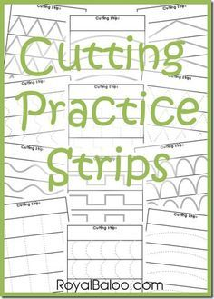 Montessori Practical Life toddler or Free Cutting Practice Strips from Royal Baloo Preschool Learning, Early Learning, In Kindergarten, Fun Learning, Preschool Activities, Physical Activities, Dementia Activities, Learning Shapes, Children Activities