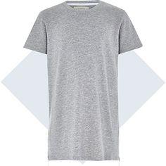 Boys grey zip hem t-shirt £10.00