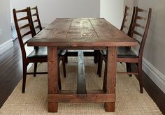 Build This Rustic Farmhouse Table  - PopularMechanics.com Includes some small details that will make any table look really nice.