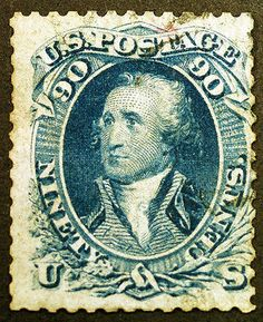 U.S. #72 90c Blue 1861 Faintly Used Lightly HInged - Giant #rarestamp #Sale All Weekend at LittleArtTreasures.com