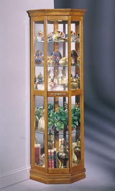 Dover II Corner Curio Cabinet