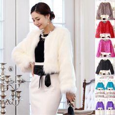 Winter Tops Jacket Women s Coat Candy Trendy New Faux Fur Stylish Casual Outwear | eBay