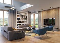 Dom z widokiem 3 - zdjęcie 4 House Plans, How To Plan, Table, Furniture, Behance, Home Decor, Plane, Sims, Dreams