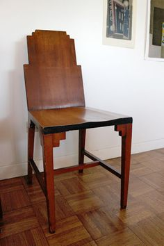 Art Deco chair. Bought it in a NYC thrift shop about 40 years ago... #ArtDecoFurniture
