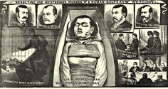 An illustration depicting Polly Nichols, victim of Jack the Ripper, 1888. This is from The Illustrated Police News, a weekly British newspaper founded in 1863 that aggregated sensational and melodramatic reports and illustrations of murders in the UK and around the world.