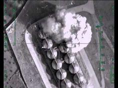 Авиаудар по нефтехранилищу в районе н.п.ЭС-САУРА