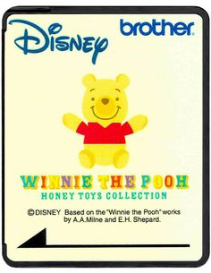 Brother Disney Embroidery Card SA313D - Winnie the Pooh Honey Toys Collection OUR PRICE:$99.99 In Stock Available
