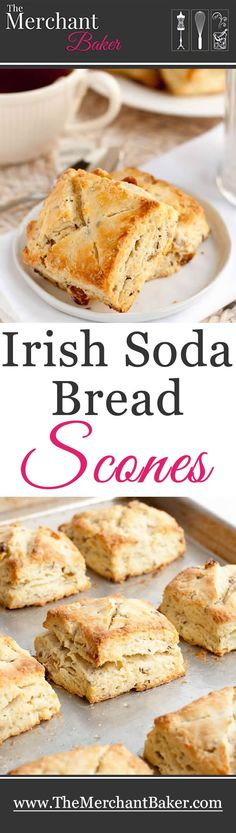 A delicious lightly sweet and tender sour cream scone baked up with all the flavors of my favorite Irish soda bread!