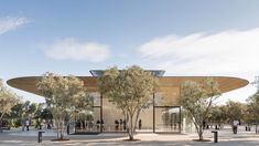 Norman Foster's studio has completed the Apple Park Visitor Center in Cupertino, a structure that is public, transparent and immersed in the landscape. Luz Natural, Norman Foster, Archdaily Mexico, Foster Partners, Space Photos, Exterior, Source Of Inspiration, New Image, The Fosters