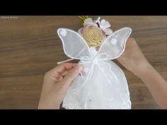 How to make an angel doll | BB thiên thần cánh bướm | Huong Harmon - YouTube Christmas Fairy, Christmas Angels, Christmas Ornaments, Handmade Angels, Fairy Dolls, Tree Toppers, Bb, Youtube, How To Make