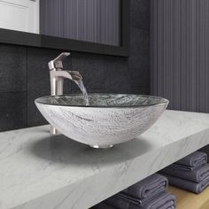 Shop for VIGO Titanium Glass Vessel Bathroom Sink and Niko Faucet Set in Brushed Nickel Finish. Get free delivery at Overstock - Your Online Home Improvement Shop! Get in rewards with Club O! Glass Bathroom Sink, Glass Sink, Bathroom Sets, Bathroom Faucets, Modern Bathroom, Bathrooms, Nickel Finish, Brushed Nickel, Waterfall Faucet