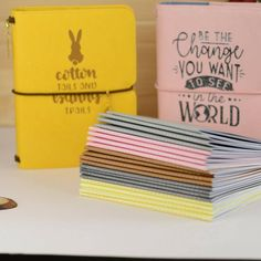 Choose from 3 designs Gold Foil /& Glitter Unicorn Fauxdori Passport and Micro TN Only for FieldNotes Pocket Midori 4 Pockets Folder