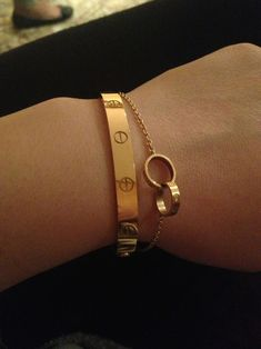 Cartier Love Bracelet along with Cartier Infinity Bracelet which has two mini Cartier Love Bracelets together...NEED.