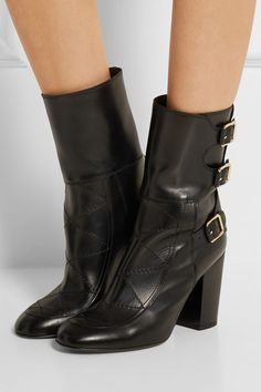 Laurence Dacade | Merli buckled leather boots | NET-A-PORTER.COM
