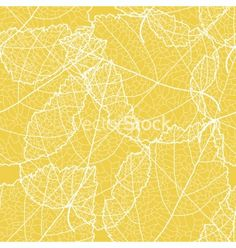 Yellow foliage seamless background vector by Tatiananna on VectorStock®