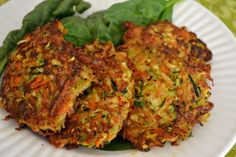 SCD Indian Spiced Chicken Zucchini Fritters (*Use fresh cooked chicken & SCD legal curry powder...)