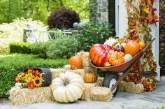 Fall Decorated Porch