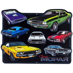 Classic Mopar Collage Embossed Die Cut Tin Sign⎜Open Road Brands