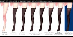 HOW TO SHADING THE THIGH HIGH STOCKINGS by Sword-Waltz on DeviantArt