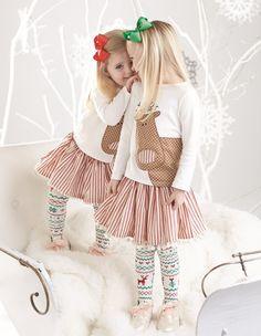 Reindeer Skirt Set by Mud Pie