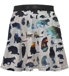 Galaxy Cats circle skirt for kids, Mr. GUGU & Miss GO