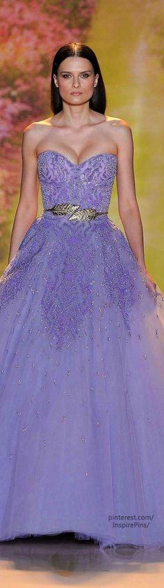 Spring 2014 Couture Zuhair Murad lavender