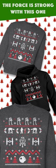 Whether you're headed to a holiday party or a funny Ugly Christmas Sweater gathering, this limited edition Star Wars sweater will have you looking stylish while showing you're a true fan. The holiday season goes by quickly, so grab one for yourself or as a gift before it's too late!