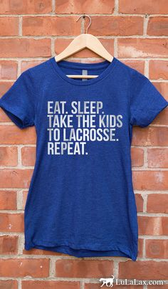 Lacrosse moms, how true is this! Celebrate being a lacrosse mom with this fun fitted t-shirt!