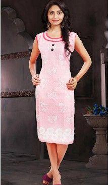 Cotton Mistyrose Color Daily Wear Readymade Kurtis | FH480774197 #kurtis , #kurtas , #tunic , #top , #fashion , #clothing , #women , #heenastyle , #ladies , @heenastyle , #teenagers , #girls , #style , #mode , #mehendi