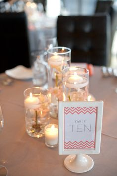 Table numbers - ikea frames