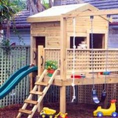 47 best Backyard playhouse and swing ideas images on Pinterest ...
