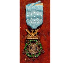 Joshua Lawrence Chamberlain 's Medal of Honor, 1893    Congressional Medal of Honor, awarded to Chamberlain  in 1893 for his actions at Gettysburg, Pennsylvania, on July 2, 1863.   Photo copyright Dennis Griggs.