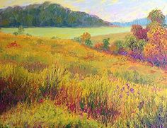 Golden Meadow Morning by Nancy Gregg Oil ~ 9 x 12