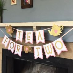 Tea Party Birthday Banner – Princess Tea Party – Tea for Two Banner – Tea Party Decorations – Tea Time Banner – princess party banner – Baby Shower İdeas 2020 2nd Birthday Party Themes, Second Birthday Ideas, Tea Party Theme, Girl 2nd Birthday, Tea Party Birthday, Birthday Banners, Farm Birthday, Birthday Invitations, Toddler Tea Party