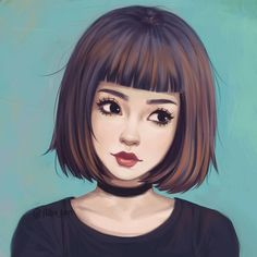hiba_tan art ~ A doodle that I spent way too much time on until it ended up being a full drawing haha QvQ (not a photo study btw ^^ ) Beautiful Drawings, Cute Drawings, Drawing Sketches, Inspiration Art, Art Inspo, Character Art, Character Design, Arte Sketchbook, Art Et Illustration