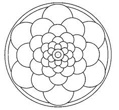 Simple mandala coloring page printout mandalas for Dibujos para mosaiquismo