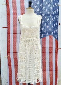 Ivory Crochet Dress | The Gypsy Wagon
