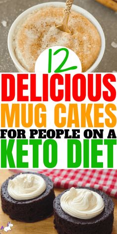 12 Delicious Keto Mug Cakes That Will Keep You In Ketosis (and Satisfy Your Sweet Tooth) These keto mug cakes will help you stay in ketosis & satisfy your sweet tooth easily with recipes from keto cinnamon roll mug cake to keto vanilla mug cake! Keto Diet List, Starting Keto Diet, Desserts Keto, Keto Snacks, Easy Keto Dessert, Mug Recipes, Keto Recipes, Ketogenic Recipes, Cake Recipes