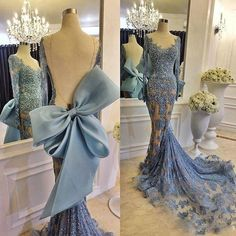 Cheap Evening Dresses, Buy Directly from China Suppliers:Abiye Sexy Long Mermaid Evening Dresses With Full Sleeves Backless Big Low Lace Evening Gowns Robe De Soiree Dubai Formal Dress Evening Dress Long, Lace Evening Gowns, Blue Evening Dresses, Mermaid Evening Dresses, Evening Party, Winter Dresses, Sexy Dresses, Fashion Dresses, Prom Dresses