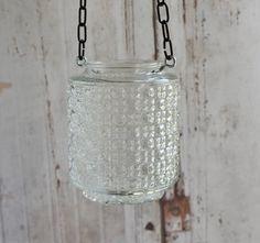 Wedding lantern repurposed from last century's glass light cover