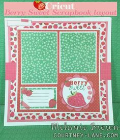 Cricut Berry Sweet Scrapbook Layout