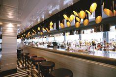 Manchester House Bar and Restaurant / Manchester Manchester House, Hotel Lobby, Bars For Home, Restaurant Bar, Coffee Shop, Northern Lights, House Bar, War, Lighting