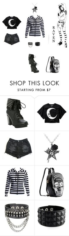 """Punk Raven Madison Vampire kisses"" by kaitlynpope77 ❤ liked on Polyvore"