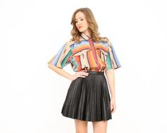 Vintage L Rainbow Striped Southwestern Navajo by ShopTwitchVintage, $37.99
