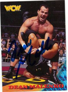 dean malenko wrestler | DEAN MALENKO AUTOGRAPHED WRESTLING CARD #62711Q