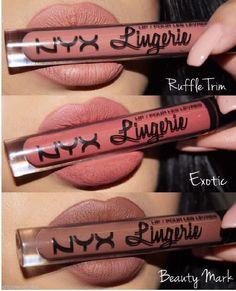 NYX Lip Lingerie Matte Liquid Lipstick Waterproof Lip Gloss Makeup 12 Shades UK #NYXCosmetics