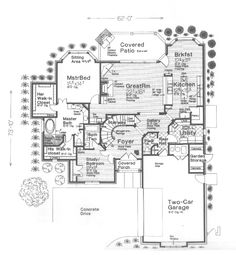 Shingle House Plan First Floor - 036D-0161 | House Plans and More