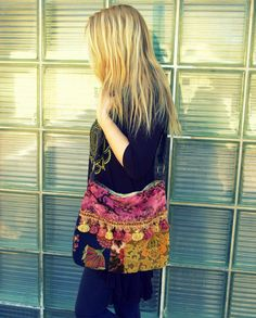 Pretty Velvet Floral Velvet Gypsy Bag by Justbepurses on Etsy